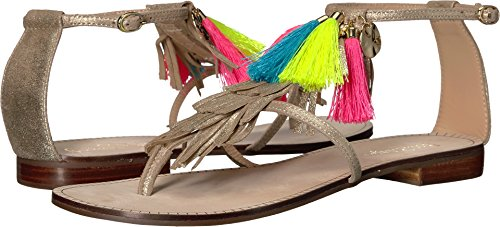 Boho-Chic Vacation & Fall Looks - Standard & Plus Size Styless - Lilly Pulitzer Women's Zoe Sandal Gold Metal Sandal