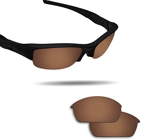 Fiskr Anti-saltwater Polarized Replacement Lenses for Oakley Flak Jacket Sunglasses