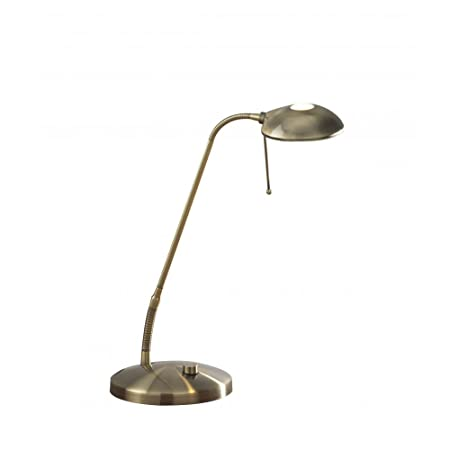 dar lighting halo hal4075 desk lamp antique brass amazon co uk