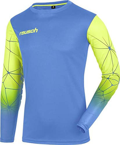 Reusch Match Pro Padded Long Sleeve Goalkeeper Jersey, Blue/Lime, Adult Large ()