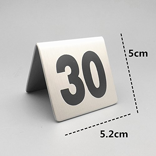 Bent Style Double Side Table Number Table Tent Card Place Cards for Hotel&wedding Reception with Matte Surface Set of Numbers (1-100) by Generic