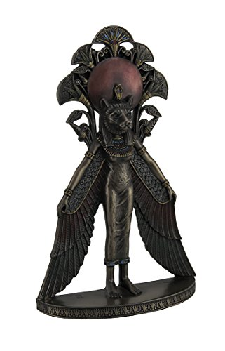 (Resin Statues Sekhmet Winged Egyptian Warrior Goddess Wall Art Statue 6.75 X 10.75 X 2.25 Inches Bronze)