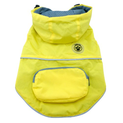 FouFou Dog Rainy Day Poncho, X-Large, Yellow