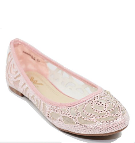 Walstar Women Flat Slip on Shoes (10 B(M) US, Pink)