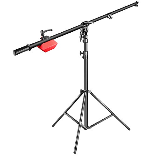 (Neewer Pro Lamp Boom Stand Max Height 71 inches/180 centimeters with 88 inches/224 centimeters Holding Arm, 8.8 pounds/4 kilograms Counter Weight for Monolight Strobe Light Ring Light Softbox and More)