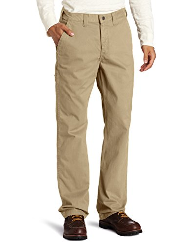Carhartt Men's Rugged Work Khaki Relaxed Fit,Field Khaki,34 x 30 - Mens Cell Phone Pocket