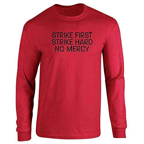 (Strike First Hard No Mercy Cobra Kai Karate Kid Red M Long Sleeve)