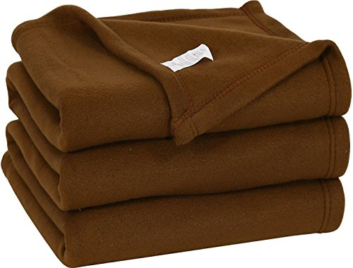 Twin Polar Fleece Thermal Blanket Chocolate