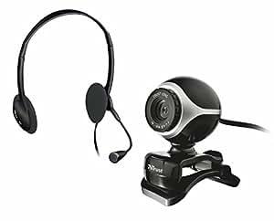 Trust 403817 - Webcam + auriculares, color negro