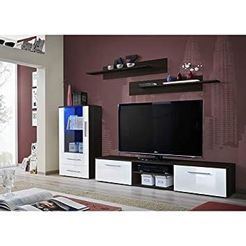 ASM Ensemble Mural - Galino H - 1 vitrine LED - 1 Meuble TV ...
