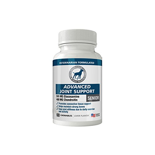 Vets Preferred Glucosamine for Dogs: Advanced Hip and Joint Supplement for Dogs with Glucosamine, Chondroitin, and MSM. Maximum Strength for Dog Hip and Joint Relief. Made in The ()