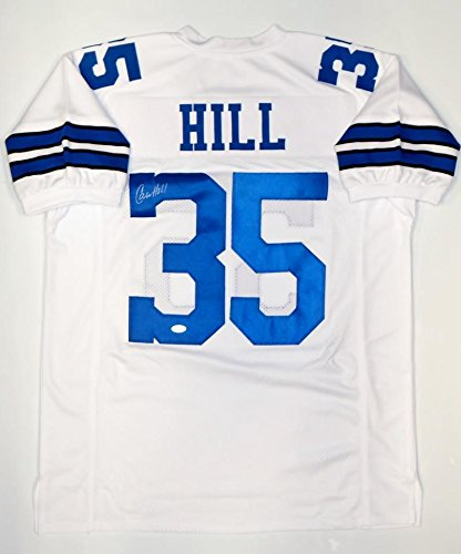 9bb18ca5a Calvin Hill Signed Jersey - White Pro Style Witnessed - JSA Certified -  Autographed NFL Jerseys