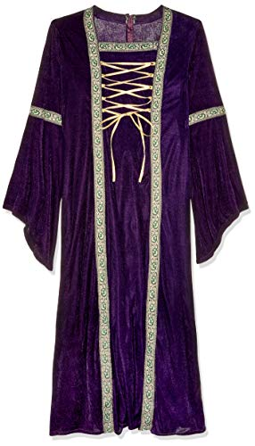Fun World Women's Deluxe Renaissance Lady, Purple, Medium/Large 10-14 ()