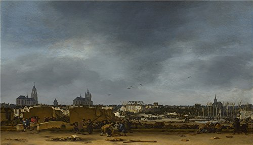 Ball Hugger Gloss (Oil Painting 'Egbert Van Der Poel - A View Of Delft After The Explosion Of 1654,1654' 20 x 35 inch / 51 x 89 cm , on High Definition HD canvas prints, gifts for Game Room, Laundry Room And Liv decor)
