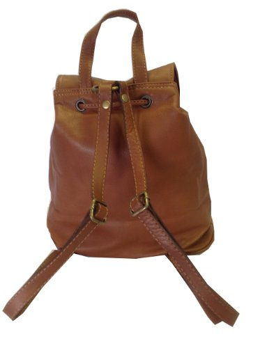 Brown Italian Leather Rucksack, Handbag or Backpack