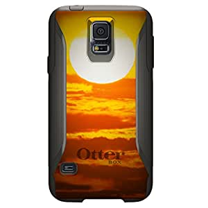 CUSTOM Black OtterBox Commuter Series Case for Samsung Galaxy S5 - Bright Sun Sky Red
