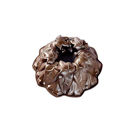 Nordic Ware 85948 Harvest Leaves Bundt Cake Pan, One Size, Bronze
