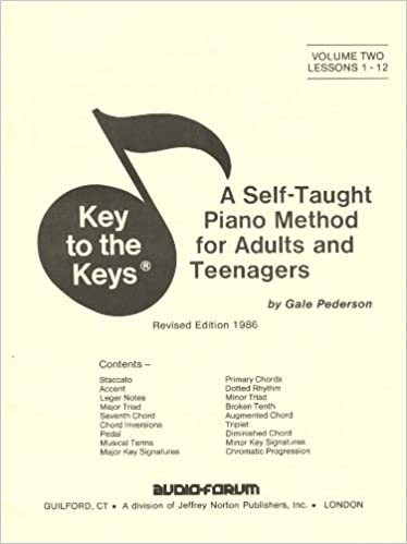 Key To The Keys 2 A Self Taught Method For Adults And Teenagers