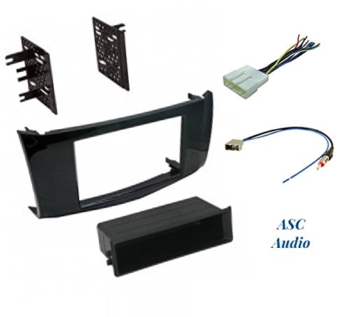 and Antenna Adapter for Installing an Aftermarket Radio for 2013 2014 2015 2016 Nissan Sentra Premium Car Stereo Install Gloss Black Dash Kit Wire Harness