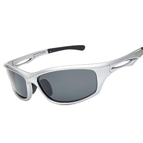 Guía Gafas Para De Mate Sol La Sol Gray Nocturna De Deportes Deportes Noche Polarizadas Gafas TIANLIANG04 Gafas Negra Silver Hombres Color Uv400 De Hombres Visión De Para De 1wZxnz4q