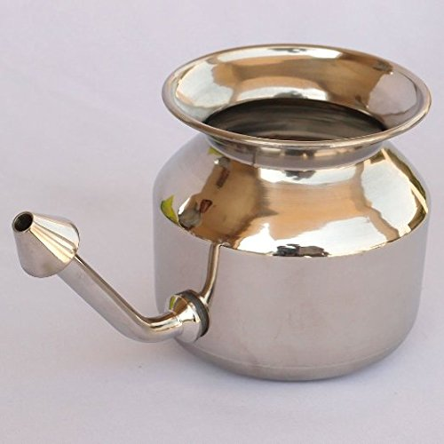 HealthMax (TM) Superior Stainless Steel Neti Pot