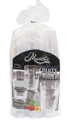 Crystal Party Cut Plastic (WNA Masterpiece 557405 Crystal Cut Party Tumblers 10 Ounce Plastic Cups 150 Pieces (2 Pack))