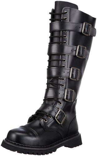 Mens Leather Boots With Buckles - 9