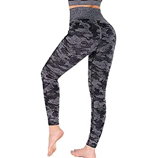 Yaavii Camo Seamless Leggings for Women High Waisted Full-Length Yoga Pants Workout Gym