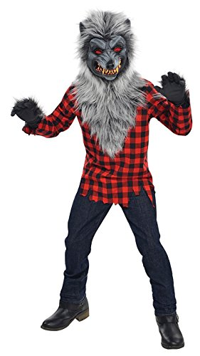 Halloween Werewolf Costumes For Kids (AMSCAN Hungry Howler Werewolf Halloween Costume for Boys, Large, with Included)