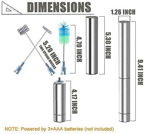 XIAOWEI Mousseur à Lait Double Batteur électrique Puissant pour Fabricant de Mousse avec tête de Fouet à Ressort Unique supplémentaire Acier Inoxydable