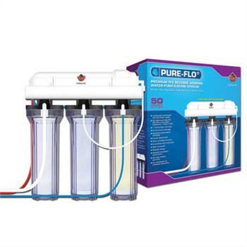 Coralife 05692 Pure-Flo II 50-Gallon Per Day 4 Stage RO/DI System by Coralife