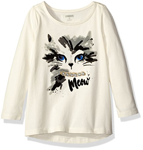 (Gymboree Girls' Halloween Screen Tee, Ivory Cat,)