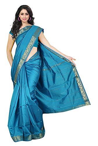 KoC Indian Traditional Ethnic Women wear Art Silk Saree -Blue