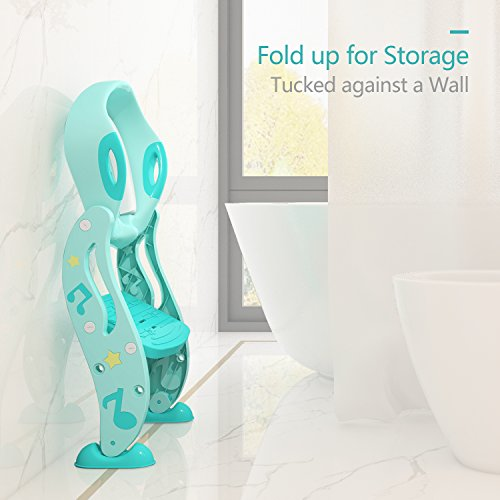 KIDPAR Potty Training Seat for Kids,Adjustable Toddler Toilet Potty Chair with Sturdy Non-Slip Step Stool Ladder, Comfortable Handles and Splash Guard, Easy to Assemble Toilet Seat for Boys and Girls by KIDPAR (Image #7)