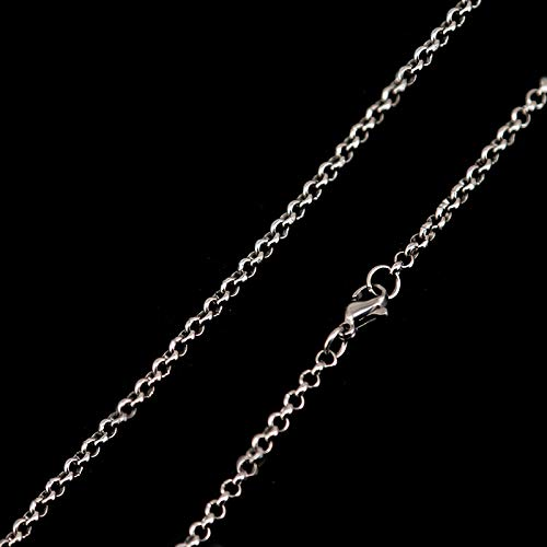 Long Necklace | Stainless Steel Necklace | Chains for Pearl Lockets & Diffuser Oil Locket Pendant for Women 2.5Mm (26inch rolo - Pearl Rolo