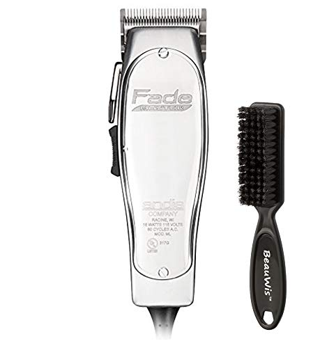 Andis Professional Fade Master Hair Clipper and Adjustable Fade Blade with a BeauWis Blade Brush