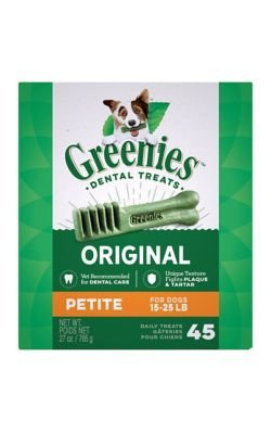 Greenies Petite Dog Dental Chew Treats 27oz 45ct