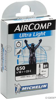 Michelin Aircomp UL 650 x 18-23mm 40mm PRESTA Valve Tube