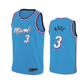 WOLFIRE WF Camiseta de Baloncesto para Hombre, NBA, Miami Heat ...