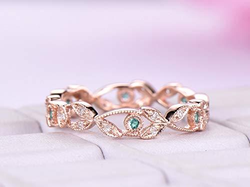 Wedding Band Eternity Vine Ring 14K Rose Gold ()