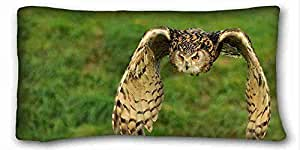 Custom Cotton & Polyester Soft Animal Custom Cotton & Polyester Soft Rectangle Pillow Case Cover 20x36 inches (One Side) suitable for X-Long Twin-bed