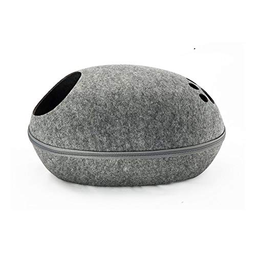 goldenking Cat Bed Cave Eco-Friendly Beds Pet Cat Furniture Felt Pet House Hideout for Cats and Kittens-4 Colors