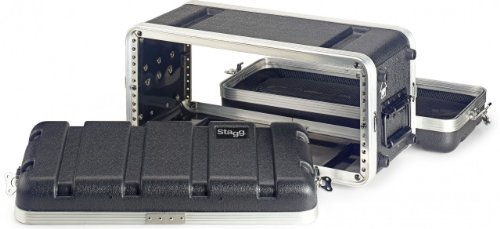Stagg ABS-4US Shallow Case for 4-Unit Rack - Black by Stagg