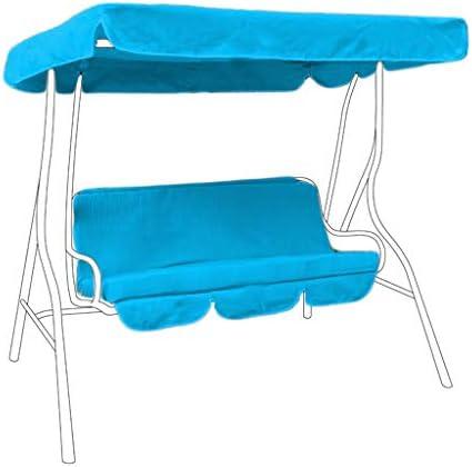 2 plazas reemplazo toldo impermeable y asiento para columpio asiento/jardín hamaca en turquesa: Amazon.es: Jardín