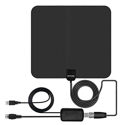 Lowest Price! TV Antenna Amplified Indoor HD Antennas 50 Mile 10FT High Performance Coax Cable