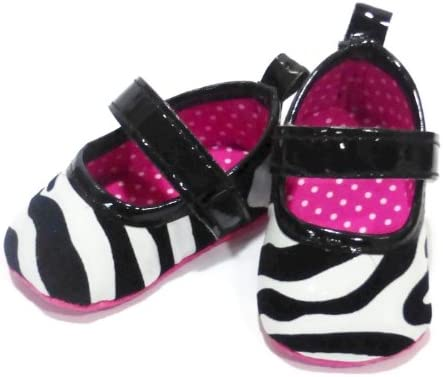 3.25 Insole Zebra Print Shoes for Baby Girl 0-3 Months