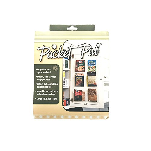 My Packet Pal Spice & Seasoning Packet Holder Organizer For Kitchen Cabinets Set Of - Packet Seasoning