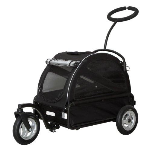 AirBuggy for Pet 에어버기(에어 배기(baggy) 애완캐리어/유모차용품 투《구루》 블랙