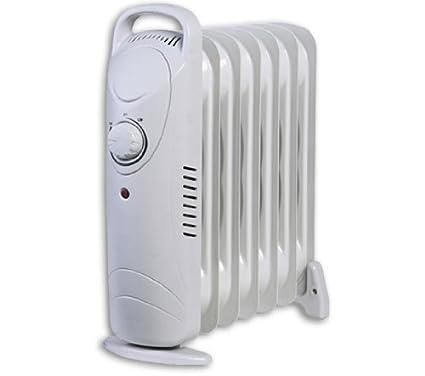 600w Aceite Lleno portátil Radiador eléctrico Calefactor 7 ALETA TERMOSTATO