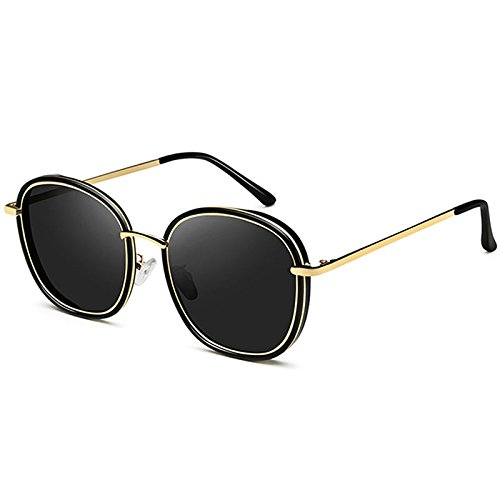 Gafas Gran Cara sol B Redondo de Hombre sol Sun WYL elegante A cara Gafas de polarizadas Personalidad Sunscreen pCqxd